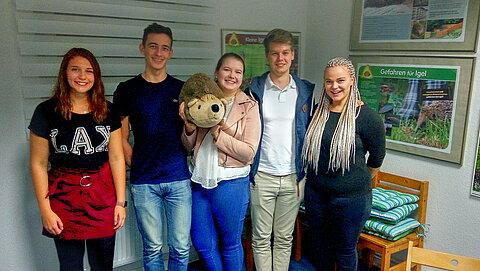 Fünf Mitglieder des Rotaract Club Schwarmstedt-Walsrode