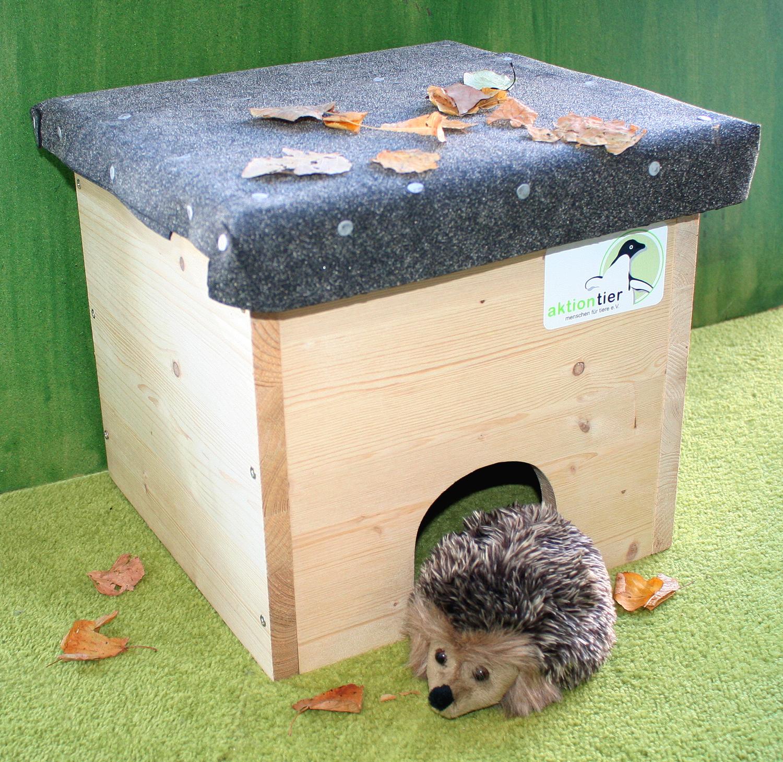 so bauen sie ein igelhaus aus holt - aktion tier - igelzentrum